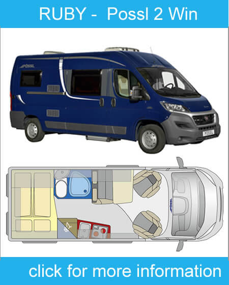 click here for more information on ruby 2 berth campervsn hire